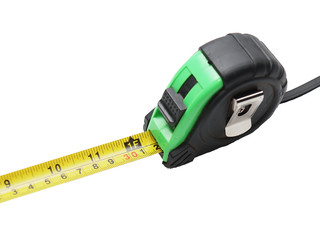 black and green tape measure