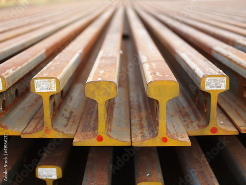 Steel beams for build train rails
