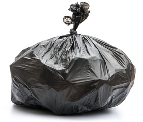 Garbage bag on white background