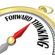 Forward Thinking Gold Compass Leads with Vision Planning
