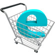 Shopping Cart Containing Letter E