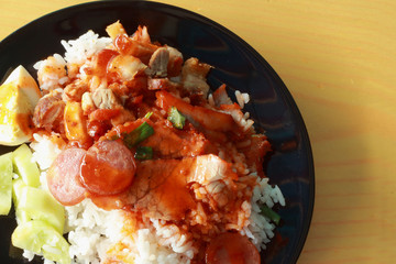 Red sauce pork rice