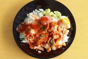 Red sauce pork rice