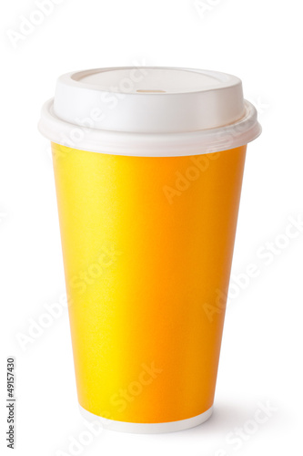 Take-out cup for hot drinks