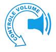 controle volume sur symbole bleu