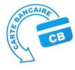 carte bancaire sur symbole bleu