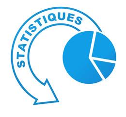 statistiques sur symbole  bleu