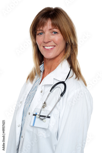 Portrait of a confident smiling medical expert