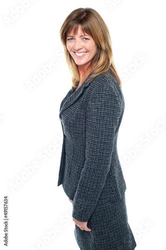 Modern smiling female employee