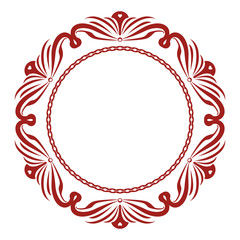 Higlhy Decorative Round Frame With Curvaceous Details