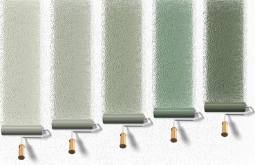 Roller brush palette