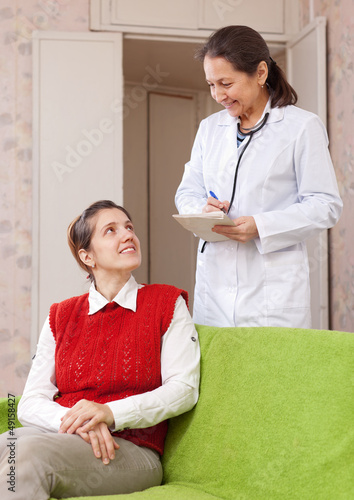 doctor asks female patient feels