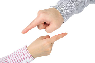 Hand pointing gesture