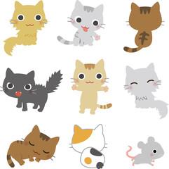 8匹の猫と鼠