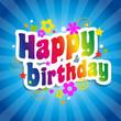 Happy birthday (fond bleu)