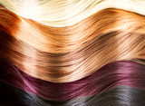Fototapety Hair Colors Palette. Hair Texture