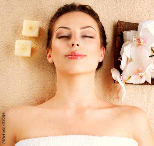 Spa Girl in Beauty Salon