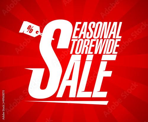 Seasonal storewide sale design template.