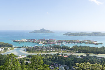 luxury Eden Island from Victoria viewpoint, Mahe