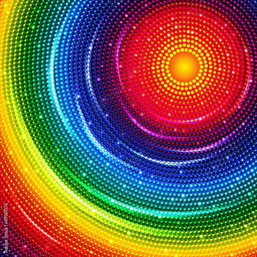 Colorful round background.
