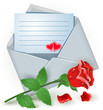 Envelope with rose