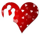Herzform Brautpaar