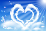 Cloud hearts in the sky poster