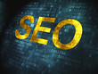 Web design SEO concept: SEO on digital background