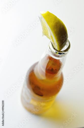 ビールとレモン