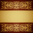 vintage border frame gold background calligraphy vector