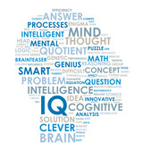 IQ Tag Cloud (intelligence brain smart ideas creativity)