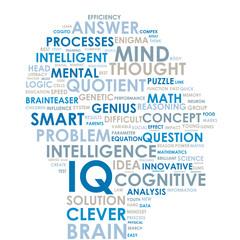 IQ Tag Cloud (intelligence brain smart ideas creativity)