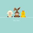 Schaf, Hase & Ente Retro