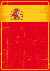 Spanish grunge poster