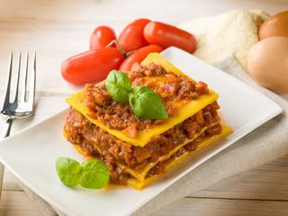 homemade vegetarian lasagne
