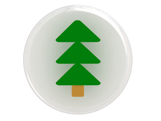 Button with christmas tree