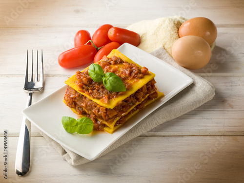 homemade vegetarian lasagne