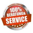 100% Beratung & Service Button