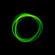 Green Rings on black Background # Vector