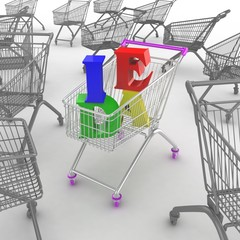 Shoping cart with idea text