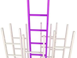 Ladder of success concept