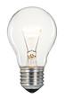 Single glowing glass light bulb - 49165494