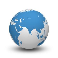 World 3d, Planet, Earth, Globe, Russia, India, Asia