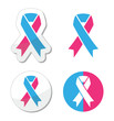 Pink and blue ribbon - pregnancy and infant loss awereness