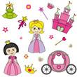 Princesas. Pegatinas habitación niña