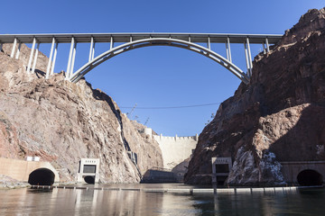 Below Hoover Dam on the Colorado River