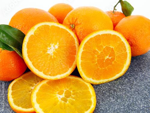 Fotobehang Plakjes fruit Frische Apfelsinen
