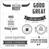 Set of restaurant menu typographic design elements poster