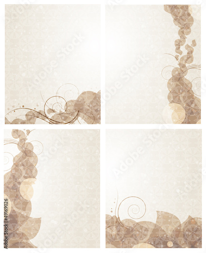 Beige backgrounds with petals pattern