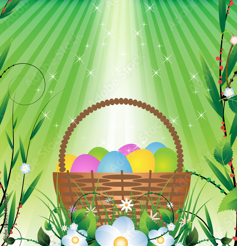 Easter basket and Sunlight